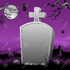 happy halloween graveyard background illustration of happy halloween in tomb stone in scary night