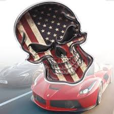American Flag Skull Buy American Flag Decal And Get Free Shipping On Aliexpress Com