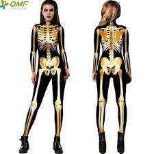 Halloween Costumes Skeleton Woman Online Get Cheap Skeleton Bones Costume Aliexpress Com Alibaba
