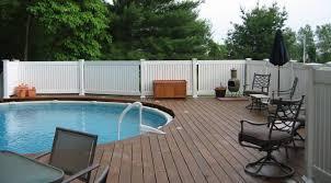 Backyard Pool Fence Ideas Fence White Vinyl Fence Wonderful Vinyl Fence Ideas White Solid