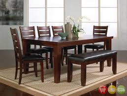 6 pc dining table set bardstown 6 piece rustic dining room furniture set w table 4