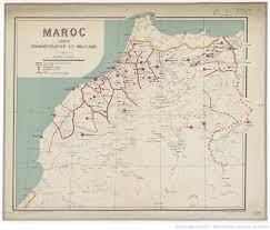 bureau d ude topographique maroc carte administrative et militaire 1 1 500 000 d après la