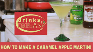 apple martini mix how to make a caramel appletini martini drinks made easy youtube