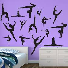 dance wall stickers dancer silhouette wall decals dancer wall decals sticker restickable gymnastics