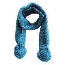 warm blue color baby neckerchief winter warm solid color scarves boys kids