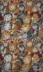 purrfect christmas by susan winget benartex 1 yd cute cats quilt