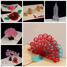 aliexpress buy amazing handmade greeting cards kirigami 3d
