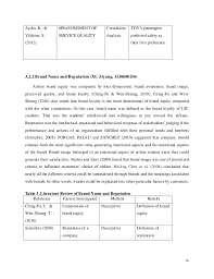 airlines research final report