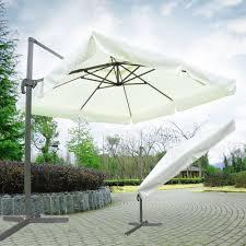Ebay Patio Umbrellas by 10 U0027 Offset Tilt Madrid Patio Umbrella Square Sun Shade 360