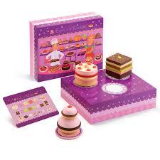 djeco cuisine djeco tom and wooden cake set designed in
