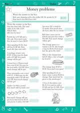 money word problems iii math practice worksheet grade 2