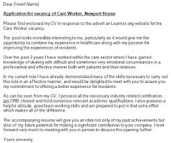 care worker cover letter exampe learnist org