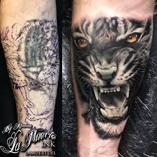 tiger cover up by kimmo angervaniva la muerte ink