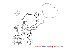 valentines coloring page 1 valentines maze boy balloon heart