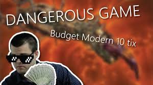 dangerous game budget modern deck tech 10tix youtube