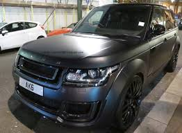 matte black range rover range rover tuned by kahn design matte black spotted in london