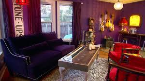 gypsy living room junk gypsies purple living room makeover video hgtv