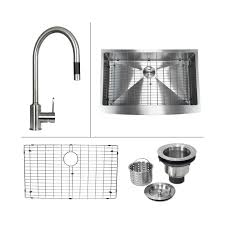 kitchen sink with faucet set boann c skr3322 20 stainless steel apron front kitchen sink and