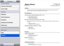 how to prepare your resume on iphone 4 resume apps iphoneness