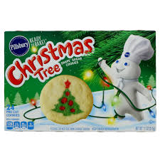 pillsbury ready to bake christmas tree shape sugar cookie shop