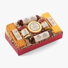 cheese gift basket hickory farms summer sausage and cheese gift box shopping