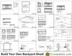 Backyard Storage Sheds Plans by 8x20 Shed Plans Storage Shed Plans Icreatables Com