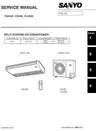 sanyo air conditioners cl2432 pdf user u0027s manual free download