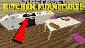 minecraft 5 pieces of epic kitchen furniture custom command