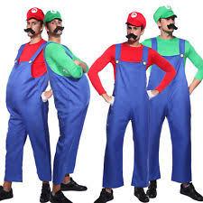 Super Mario Halloween Costume Super Mario Costume Men Ebay