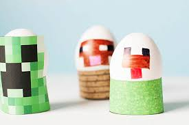 easter egg stands free printable minecraft easter egg stands all for the boys