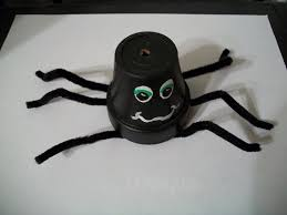 cats kids and crafts flower pot spider craft