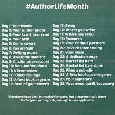 Challenge Instagram Authorlifemonth An Instagram Photo Challenge For Authors The