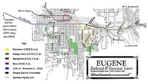 map of oregon eugene eugene streetcar system