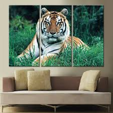 online get cheap tiger paintings on canvas aliexpress com drop shipping tiger painting on canvas home decor art poster canvas picture wall art oil