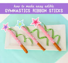 ribbon sticks ruff draft chocolate pretzel gymnastics ribbon stick dessert