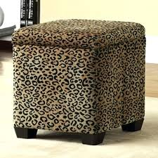 Printed Ottomans Leopard Ottoman Coffee Table Rubear Me