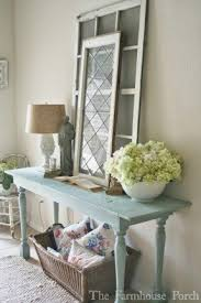 Farmhouse Console Table Cottage Console Table Foter