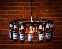 Whiskey Bottle Chandelier Bottle Chandelier Etsy