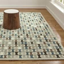 kepler teal wool geometric rug crate and barrel