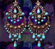 Nakamol Czech Crystal Beaded Chandelier Long Blue And Silver Bohemian Chandelier Earrings Large Por Kerala