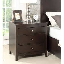 Nightstands With Mirrored Drawers Bedroom Stylish Attractive Wood Black Mirrored Nightstand Target