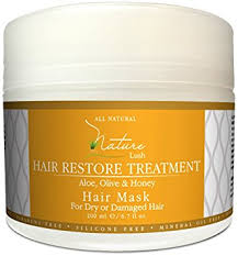 best hair masks for dry damaged hair amazon com nature lush hair mask with honey aloe vera olive oil