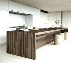 cuisine bois brut ilot central bois cuisine minimaliste design cuisine blanche