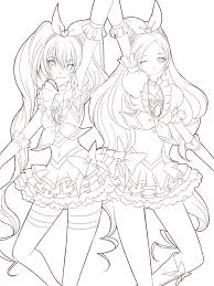 anime coloring pages u2013 various anime colotring pages