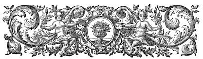 antique printer s ornament cherubs baroque the graphics