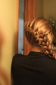 plait at back of head hairstyle diagonal french braid this has always been my favorite way to