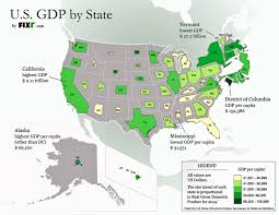 50 State Map Map Resizes Each State Proportionally To Real Gdp Business Insider