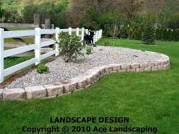 rock flower bed edging borders cute rocks with plus your along