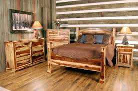 bedroom handmade furniture for rustic bedroom with brown finish
