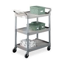 Rubbermaid Plastic Shelving by Rubbermaid 342488 Plat 3 Shelf Utility Service Cart 3 Shelf 200